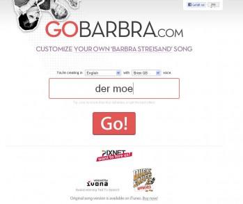 GoBarbra.com – Erstelle deinen eigenen Barbra Streisand Song