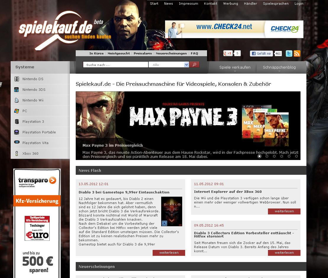 Spielekauf.de – Die Preissuchmaschine für Videospiele