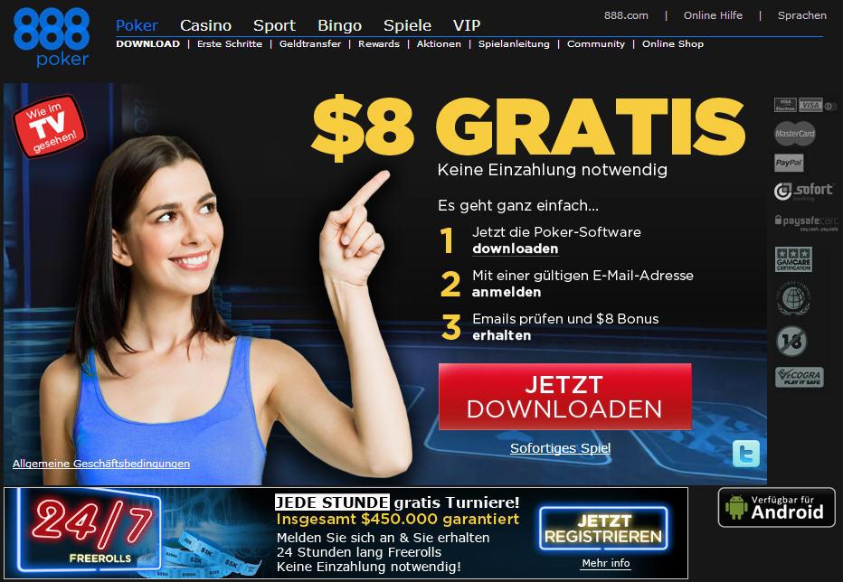 Online Poker bei 888