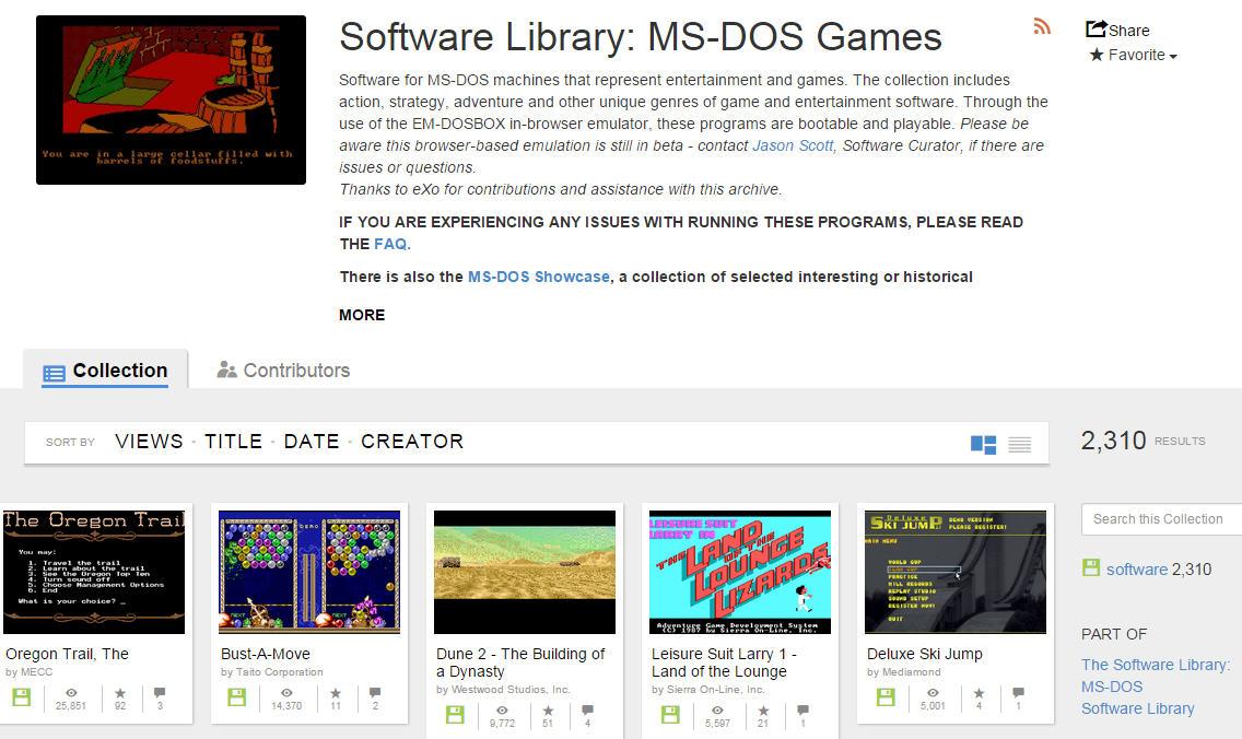 Spiele 2400 MS-DOS-Klassiker gratis im Browser