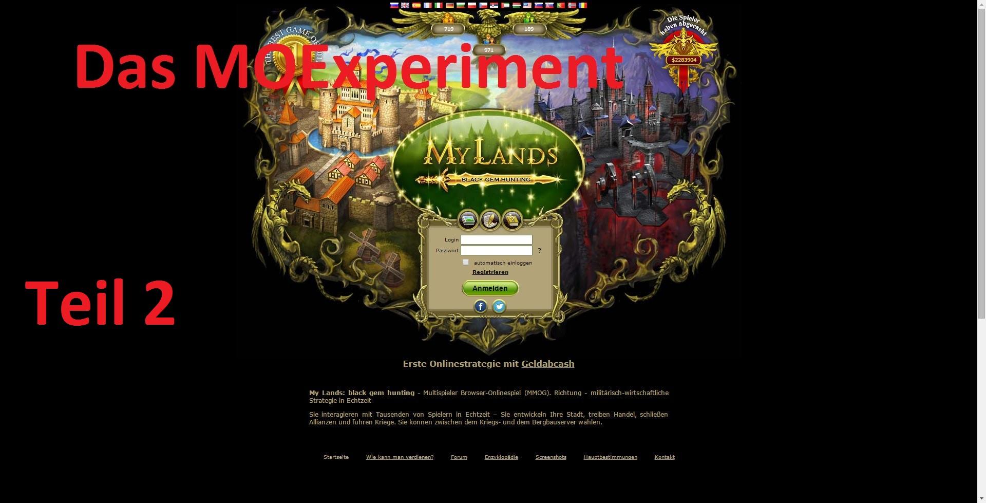 Teil 2 des MOExperiment – Kann man mit My Lands wirklich Geld verdienen?