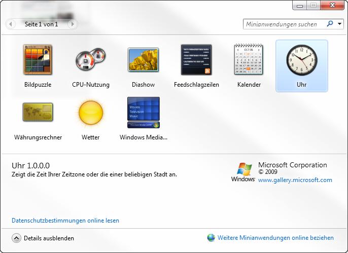 derMOE-Tipp der Woche: Windows 7 – Uhr Gadget wieder sichtbar machen